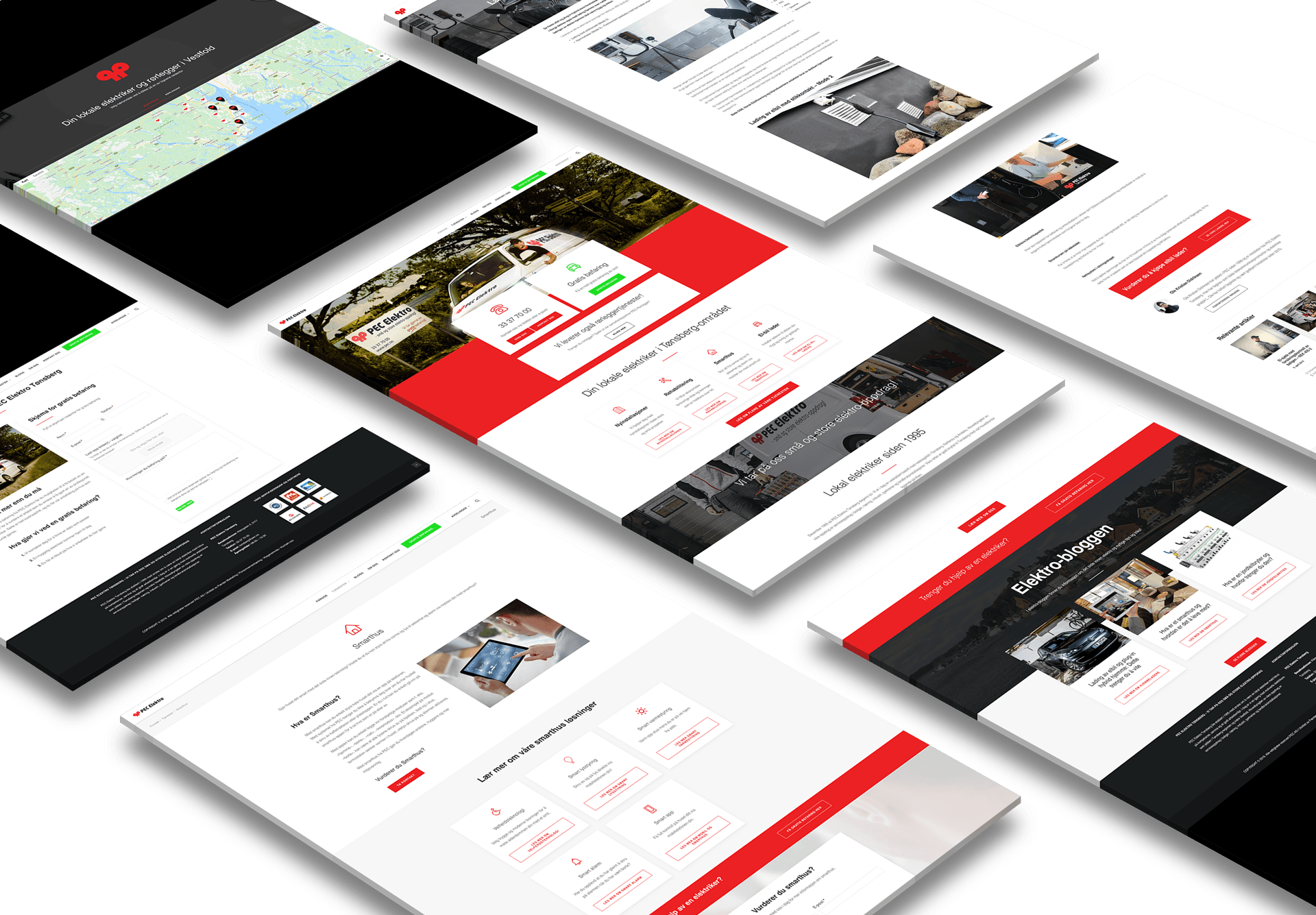 nettside wordpress mockup