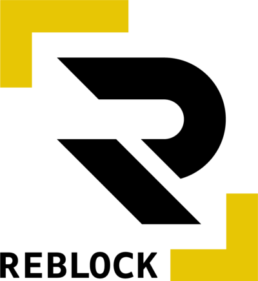 REBLOCK logo markedsføring